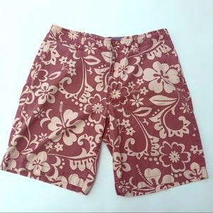 J crew mens board shorts Floral Hawaiian sz 34